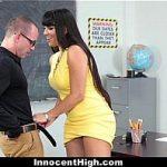 Innocent High - Busty Professor (MercedesCarrera) Fucked Naughty Student