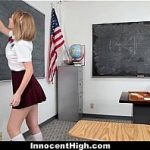 Innocent High - Horny Teacher Fucks Student (Iggy Amore) In Short School Uniform Skirt