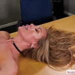 Nicole Aniston keeps her student after class and fucks him