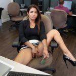 Horny Latin student Isabella Taylor likes to be fucked by a guy from the office.